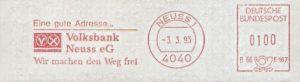 Freistempel B66 5167 Neuss - Volksbank (#71)