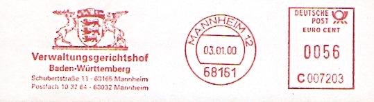 Freistempel C007203 Mannheim - Verwaltungsgerichtshof (#95)