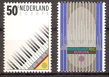 Niederlande 1274-1275 ** Europa CEPT 1985 / Musik (2018243)