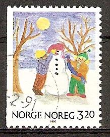 Norwegen 1057 o Weihnachten 1990 (20151009)