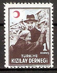 Türkei ZZM. C131 ** Verwundetenfürsorge 1947 (2015606)