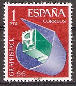 Spanien 1597 ** GRAPHISPACK 1966 (2017135)