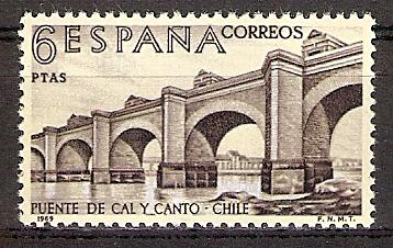 Spanien 1836 ** Brücke über den Mapocho (2017147)