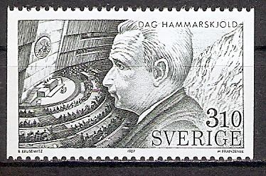 Schweden 1444 ** Dag Hammarskjöld / UN Gen.Sekretär (201767)