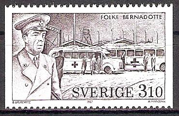 Schweden 1445 ** Graf Bernadotte / Rotes Kreuz (201768)