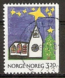 Norwegen 1058 o Weihnachten 1990 (20151012)