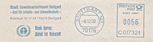 Freistempel C017321 Stuttgart - Gewerbeaufsichtsamt (#124)