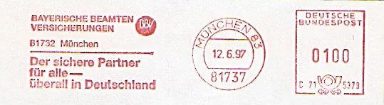 Freistempel C71 5379 München - Beamten Versicherung (#309)