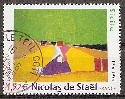 Frankreich 3913 o Nicolas de Staël \