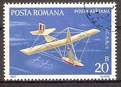 Rumänien 3411 o Segelflugzeug \