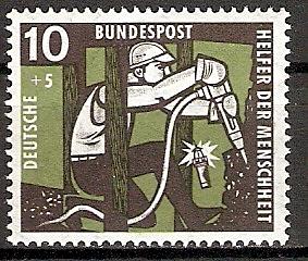 BRD 271 ** Wohlfahrt 1957 Kohlebergbau (2015556)