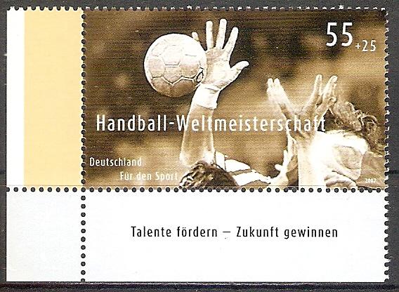 BRD 2578 ** Handball WM 2007 - Bogenecke u.l. (2017533)