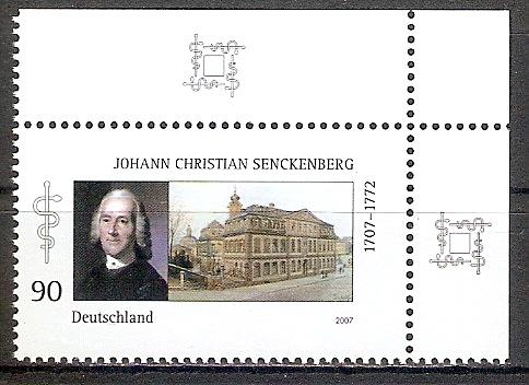 BRD 2588 ** Senckenberg - Bogenecke o.r. (2017534)