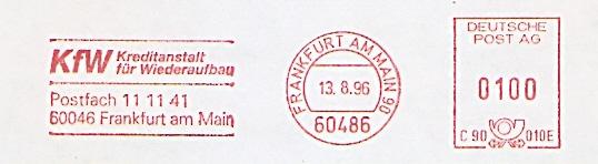 Freistempel C90 010E Frankfurt a.M. - KfW - Kreditanstalt für Wiederaufbau (#348)