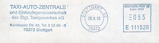 Freistempel E111528 Stuttgart - Taxi Zentrale (#52)