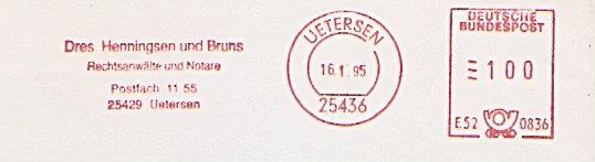 Freistempel E52 0836 Uetersen - Rechtsanwalt Henningsen (#223)