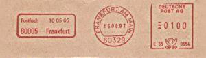 Freistempel E65 0654 Frankfurt - Postfach 100505 (#133)