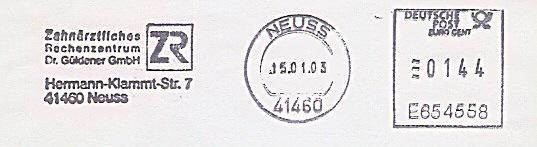 Freistempel E654558 Neuss - Zahnärztliches Rechenzentrum (#110)