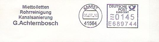 Freistempel E689744 Kaarst - Achternbosch - Miettoiletten , Rohrreinigung, Kanalsanierung (#46)