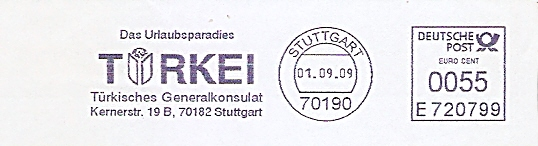 Freistempel E720799 Stuttgart - Türkisches Generalkonsulat (#398)