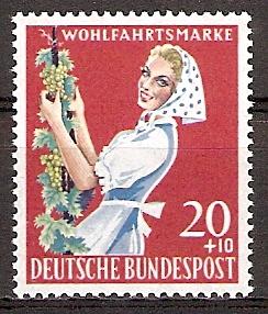 BRD 299 ** Wohlfahrt 1958 Winzerin (2015720)
