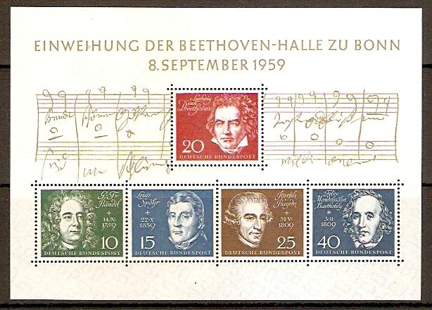 BRD Block 2 ** Einweihung der Beethovenhalle Bonn 1959 (2015367)