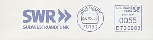 Freistempel E720983 Stuttgart - SWR Südwestrundfunk (#8)