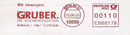 Freistempel E968178 Berlin - Küchenspedition Gruber (#7)