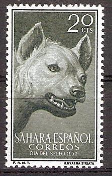 Spanisch-Sahara 175 ** Streifenhyäne (2017124)