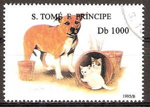 Sao Tome & Principe 1581 o Bulldogge mit Katzen (20151095)