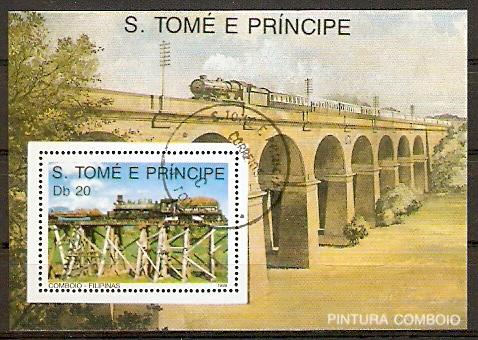 Sao Tome & Principe Block 211 o Philippinische Dampflok (20151054)