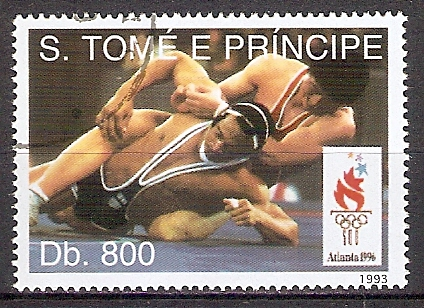 Sao Tome & Principe 1458 o Olympiade Atlanta 1996 / Ringen (201863)