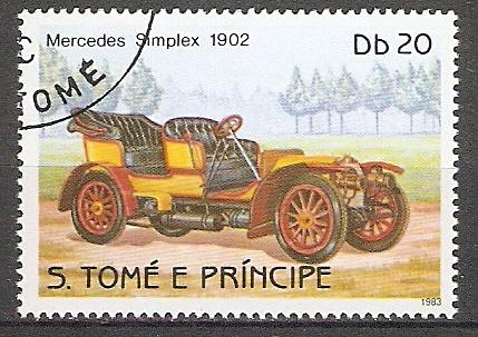Sao Tome & Principe 859 A o Mercedes Simplex 1902 (2018103)