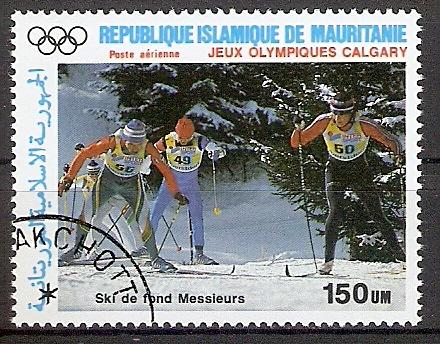 Mauretanien 916 o Olympische Winterspiele 1988 / Skilanglauf (2018157)