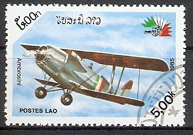 Laos 863 o Doppeldecker Flugzeug \