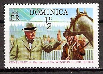 Dominica 404 A ** Churchill beim Pferderennen (2015641)