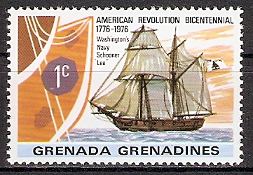"Grenadinen 179 ** Washingtons Schoner ""Lee"" (2015474)"