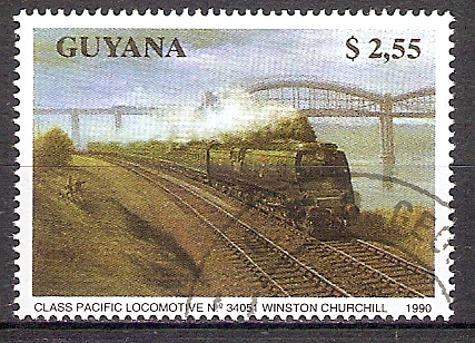 Guyana 3173 o Dampflok Pacific Winston Churchill (201857)