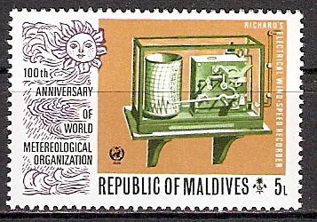 Malediven 483 ** Weltorganisation für Meteorologie (2015506)