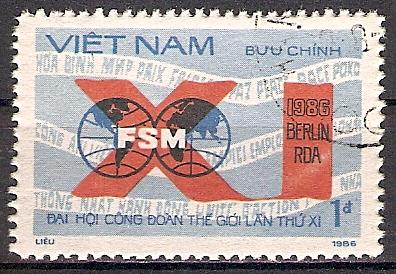 Vietnam 1719 o Weltgewerkschaftsbund Ostberlin 1986 (201754)