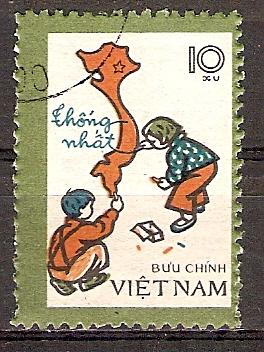 Vietnam 945 o Landkarte des vereinigten Vietnam (20151090)