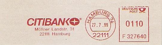 Freistempel F327640 Hamburg - Citibank (#314)