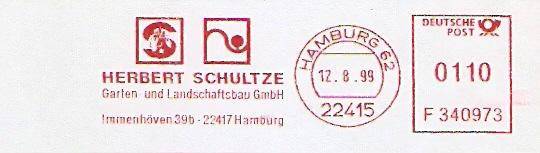 Freistempel F340973 Hamburg - Gartenbau Schultze (#321)