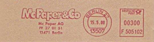 Freistempel F505102 Berlin - Mc Paper AG (#162)