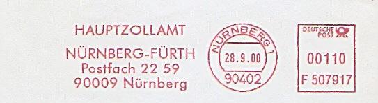 Freistempel F507917 Nürnberg - Hauptzollamt (#214)