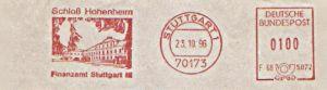 Freistempel F68 5872 Stuttgart - Finanzamt - Schloß Hohenheim (Abb. Schloß) (#197)