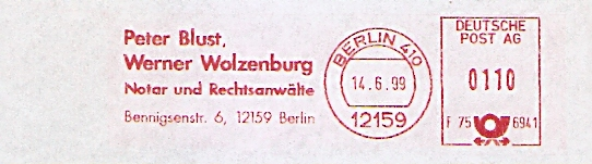 Freistempel F75 6941 Berlin - RA Blust & Wolzenburg (#393)