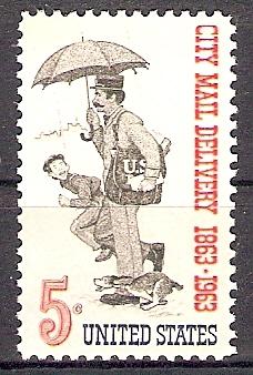 USA 851 ** Postzustellung in den Städten (20186)