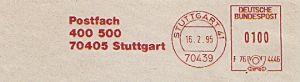 Freistempel F76 4446 Stuttgart - JVA (#176)