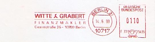 Freistempel F77 5435 Berlin - Finanzmakler Witte (#392)